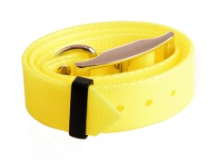 Plastic collar yellow with eye, 25 mm