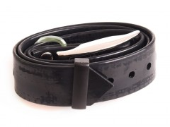 Plastic collar black with eye, 25 mm