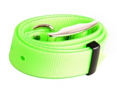 Plastic collar green with eye, 25 mm