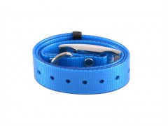 Plastic collar blue with eye, 25 mm